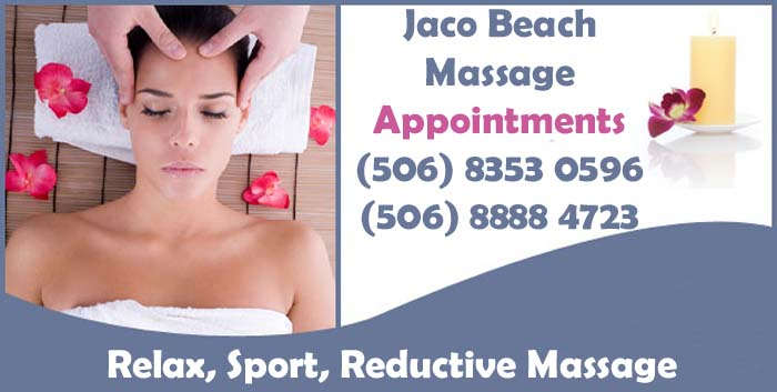Massage Website in Jaco Beach, Costa Rica